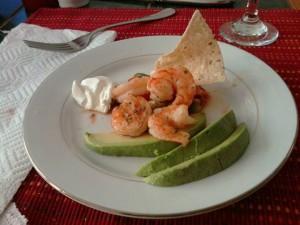 shrimp salsa and avocado
