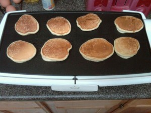 gluten free pancakes on the electric griddle