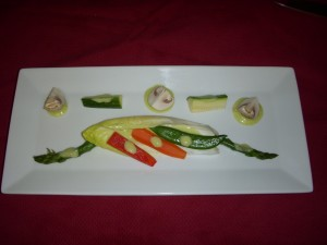 Blanched Chilled Veggies with Green Onion Aioli