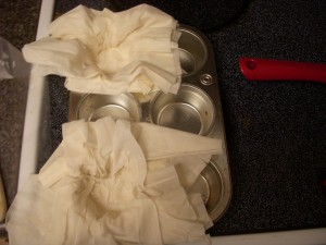 "Phyllo dough ""purses"" for the Snails and Cream"