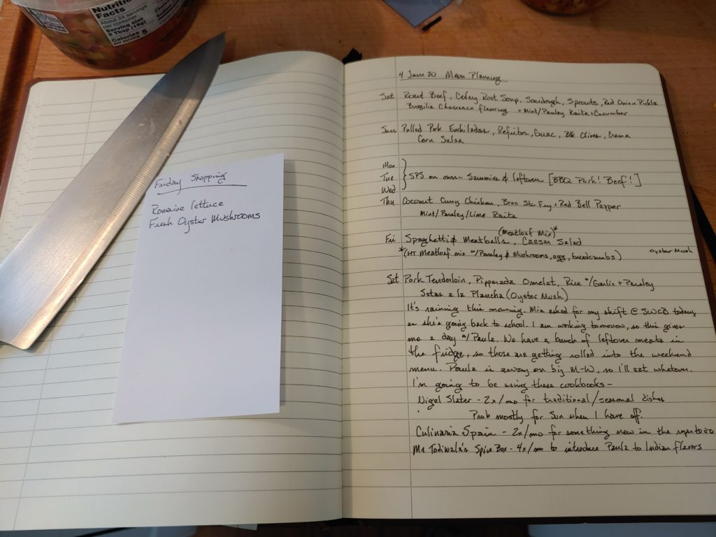 menu planning notes 4 Jan 02020